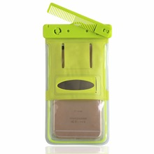TPU Multifunction luminous waterproof mobile phone bag with comb and armband