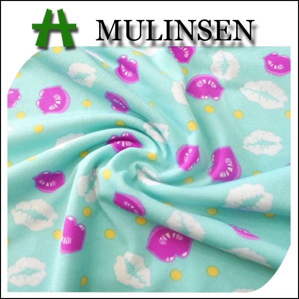Mulinsen elastin polyester new design printing fabric polyester dty