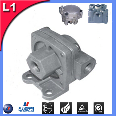 trailer axle suspension leaf spring valve seat and guide machine