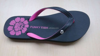 Party Wedding flip flops customized logo with rhinestone trimming