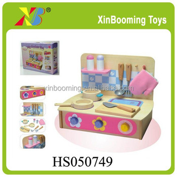 Educational Kids Wooden Kitchen Play Set Buy Toys