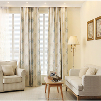 Tree Design Luxury Jacquard Fabric Curtain Double Layer Curtain