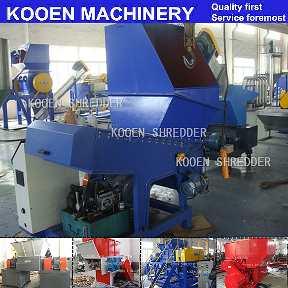 KOOEN plastic basket shredder machine / plastic basket crusher