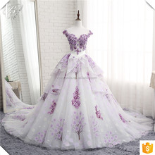 Cestbella Newest Design Sweetheart Neckline Wedding Dress Ball Gown 2017 Long Tail Bridal Dress Light Purple