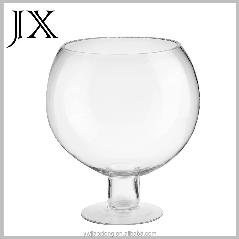 Hand Blown Glass Round Fish Tank Coffe Table Fish Bowl