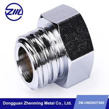 high precision carbon steel hex head pipe joint , cnc tube connector