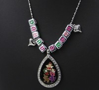 Fashion Jewelry Tear Drop Charms Locket Waterdrop Locket Pendant Chain Necklaces