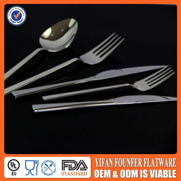 Thailand stainless steel cutlery set and elegant desigan handle flatware