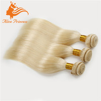 7A Grade Brazilian Unprocessed Braiding Virgin Hair Silky Straight Light Blonde Hair Wholesale Distributors