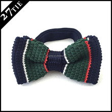 Wholesale cheap various designs polyester knitted bow tie for mens