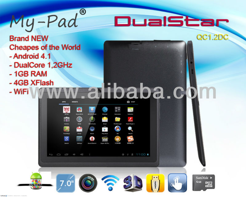 "NEW 2 Year Warranty My-Pad DualStar Tablet-PC 7"" Dual-Core 1.2GHz MID Tablet"