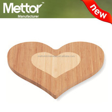 Mettor new design and natual wooden heart-shape chooping board
