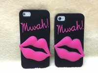 new Luxury 3D cartoon Cute Monroe sexy lips Rubber Soft Silicone cell phons Case cover skin For iphone4 4g 4s /5 5g 5s 6 6s plus