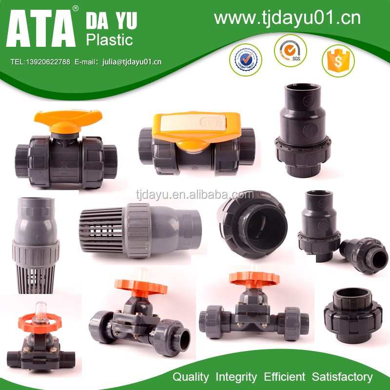 2016 factory price top quality PVC pipe fitting Plastic pipes type butterfly valve