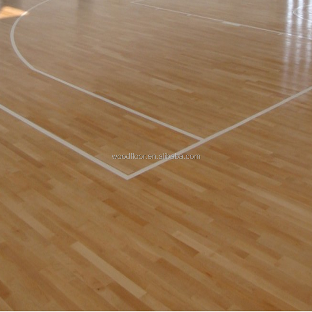 Sport hardwood flooring maple wood flooring for basketball court