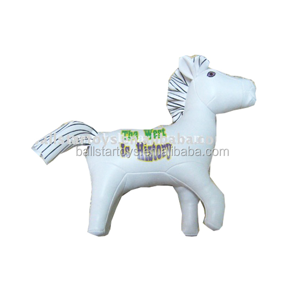 8 inch PU soft stuffed vinyl animal horse toys/leather toys