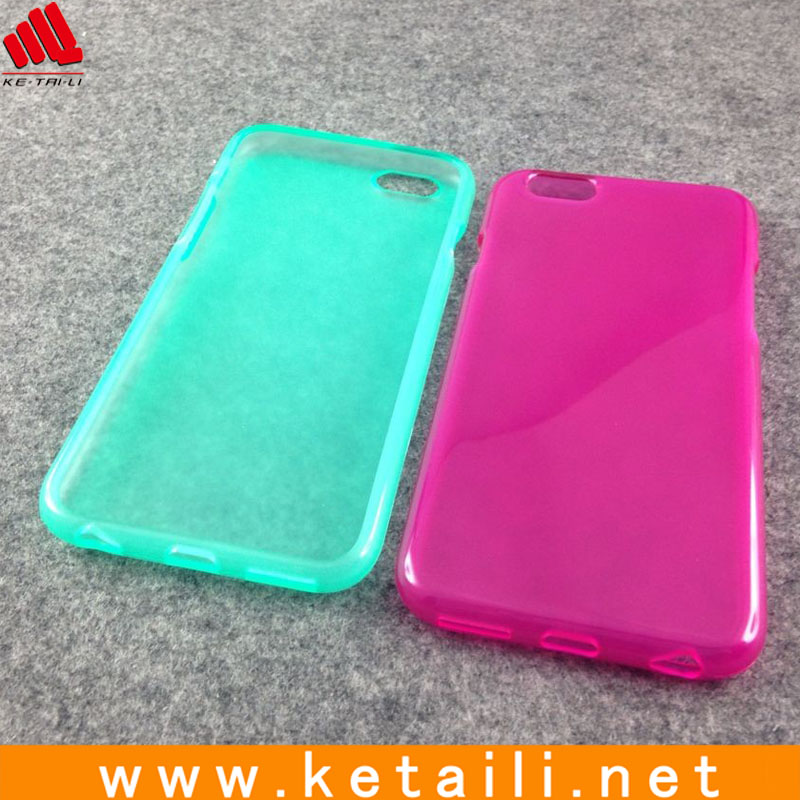 Various Mixed Colour Jelly TPU Gel Back Cover for New Apple iPhone 6