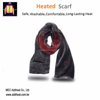 7.4v Temperature Controlled Winter Neck Wrap Battery Heated Scarf