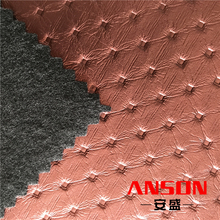 Customized Orders PU Synthetic Ostrich Leather Material For Bed Cover