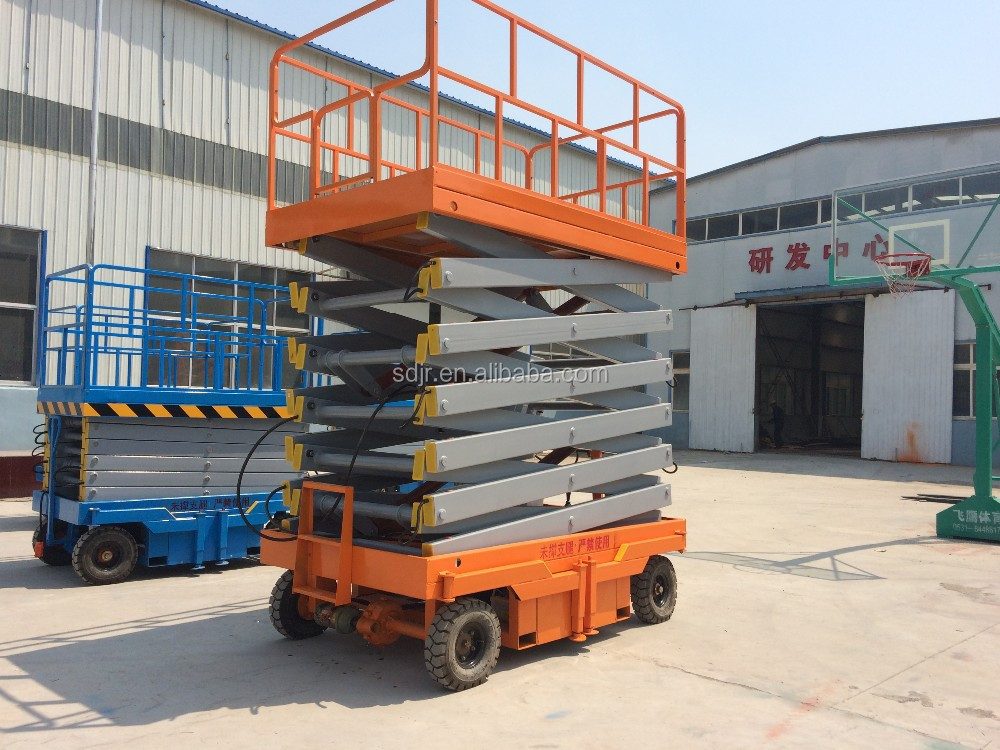 China Manufacturer four wheels mobile hydraulic scissor lift platform skylift