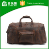 Top class cow leather duffel travelling bag genuine leather material OEM accepted