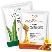 30Ml Private label ZOZU Deep hydrating aloe vera honey shrink pores face mask