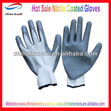 13g nitrile coated glove/nitrile palm and finger coated gloves