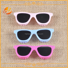 HOT SALE popular Novelty gifts Cute Sunglasses shaped contact lens case