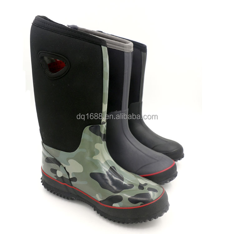Waterproof 4MM Neoprene Rubber Ladies Garden Boots Rain Boots,Neoprene Rubber Boots With Hole