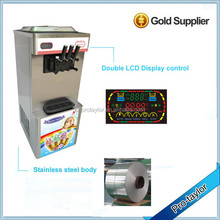 With EMBRACO compressor 3 flavors soft ice cream machine 2014 (ICM-T333)