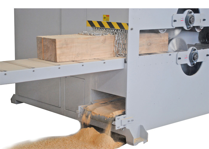 High Efficiency Plank Wood Multi rip Saw Machine of Plank Processing Total