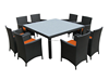 Cube rattan furniture 8 seater dining set