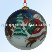 Inside hand painted glass Ball -Christmas Decoration