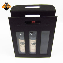 Professional customized 3 bottle wine carrier personalized wine box