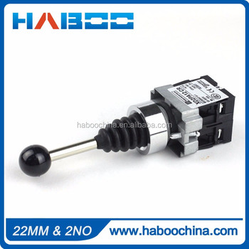 HABOO reset 2way cross switch 600V 10A dia22mm 2NO momentary