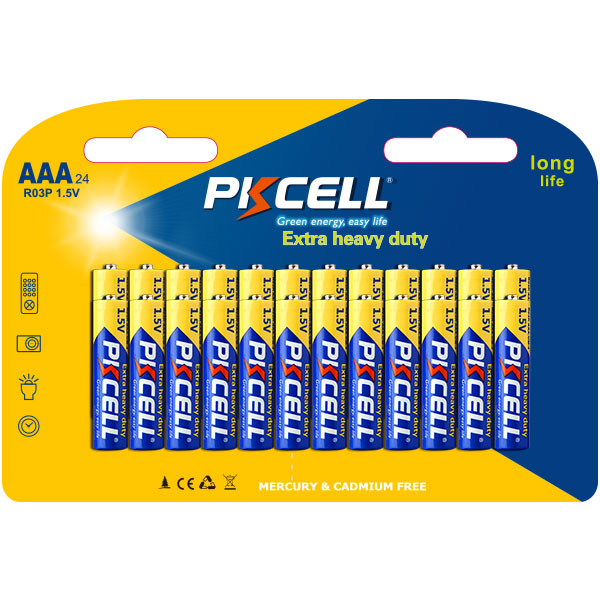 PKCELL Top 10 Selling 1.5v Dry Cell Battery r03 Size aaa um-4 Carbon Zinc Battery