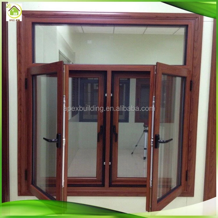 China suppliers modern exterior thermal break Integrated mosquito net aluminum casement window, type of window for houses