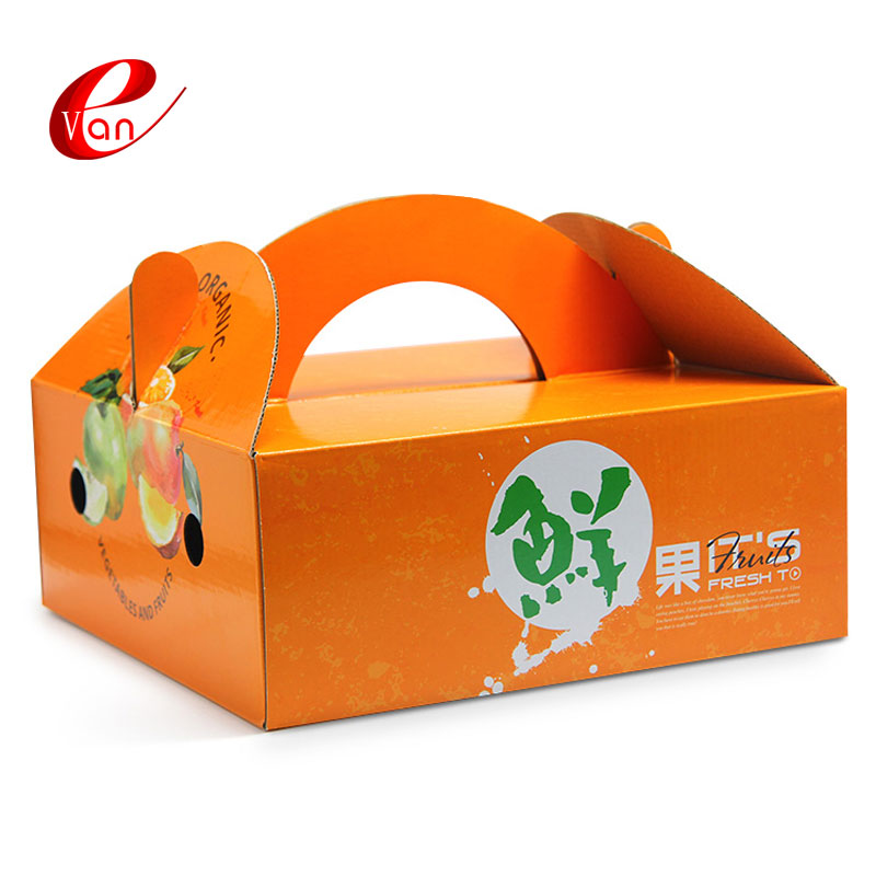 Accept custom order corrugated fruit carton box for apple, cherry fresh fruit