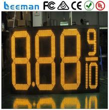 gas station led display digital price display for supermarket erasable led illuminated board