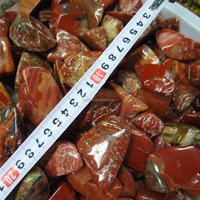 2.2lb AAA NATURAL Red Snakeskin Jasper BIG QUARTZ Crystal tumbled stone for decor, healing and meditation