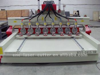 Super Large High Efficiency Cylinder Woodworking Cnc Engraving Machine Jcut-2415 (with 8 Rotary Axes)