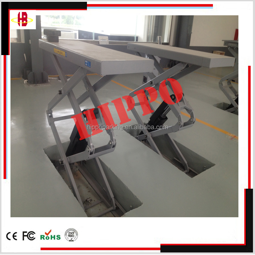3T 3.5T small platform in-ground scissor lift