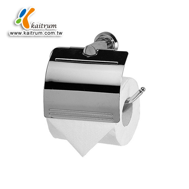 Kaitrum Bathroom Accessories Brass Chrome Plated Tissue Holder with Lid