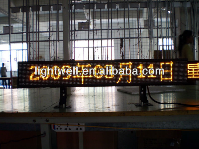 New style product for taxi/bus text mssage led display sign p6,p7.62 single color led module,p10 p16 red color module display