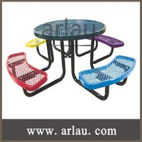 Arlau TB263 round picnic table benches outdoor metal table chairs