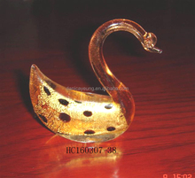 Swan Shaped Hand-made Beautiful Glass home Decoration