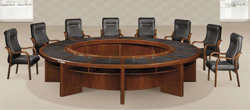 Big Size Modern Round Conference Table In Office Meeting Room Buy - Round conference table for 8