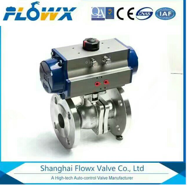 Stainless Steel / cf8m /CS 2 Piece Flanged End Ball Valve