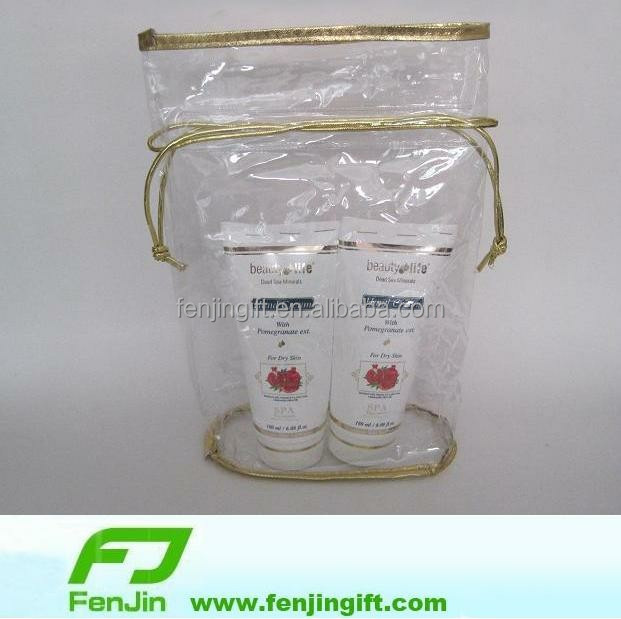 China factory direct viny see through drawstring bags