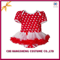 Good Quality Cheap Red Polka Dot Girl Frock For Children